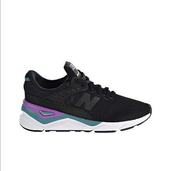 New Balance Shoes   X90 Blacktealpurple